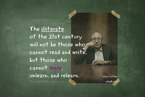 The illiterate of the 21st century