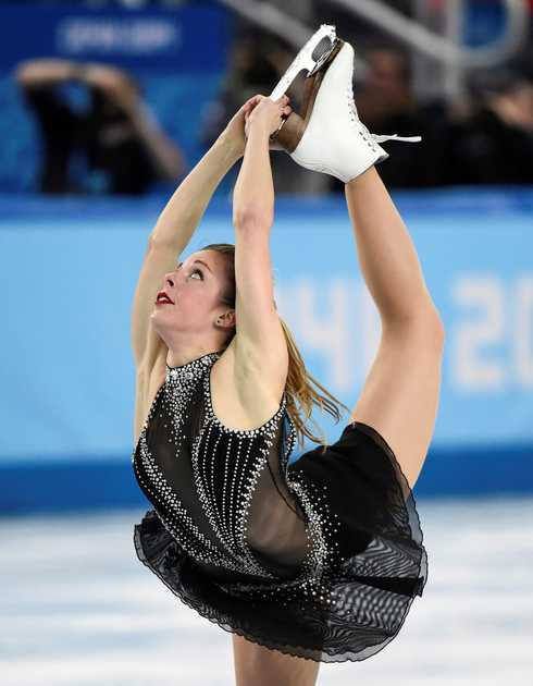 Does this look easy? U.S. figure skater Ashley Wagner.
